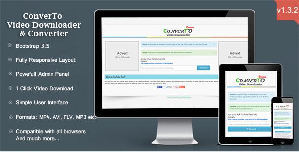 اسکریپت دانلود و تبدیل ویدئو ConverTo نسخه 1.3.2