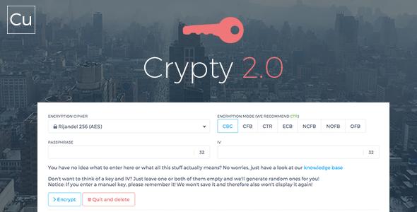 اسکریپت رمزگذاری فایل Crypty نسخه 2.0